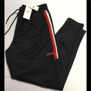 Staple Black/red track pants/joggers size XL